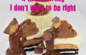 Si c'est faux, je ne veux pas être droite chocolat beurre d'arachide mini gâteau au fromage