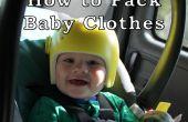 Conseils pour voyager avec un bébé : vêtements de bébé d'emballage