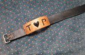 Personnalisés de bois et de cuir nom Bracelet