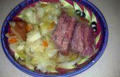 Corned Beef et le chou dans une cocotte
