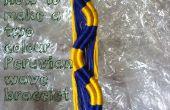 Comment faire un Bracelet deux couleur de la vague péruvienne