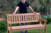 Comment faire un banc de jardin chêne