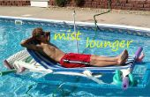 Chaise longue piscine avec construit dans le pulvérisateur de brume