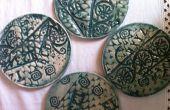 Texture des dessous de verre en céramique