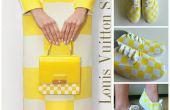 DIY tutoriel chaussures : Louis Vuitton jaune damier imprimer