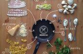 Conchigliette aux lardons, poireaux et champignons