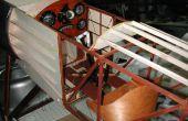 Sopwith Pup tableau de bord et Le Rhône WW1 (moteur factice pour chiot Sopwith 1/3 de l'échelle)