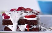Cuit sur le Grill Brownies avec fraises Dessert