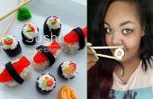 Bouchées de gâteau Sushi