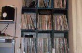 Studio bureau et étagère de livre et enregistrement des caisses