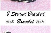 Faire un bracelet de cuir 8 brins tressés belle