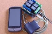 Android contrôlée de lumières et pouvoir, pfodDevice pour Arduino