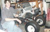 Construire un énorme RC MONSTER TRUCK - roues de chariot de Golf - cyclomoteur Motor - Remote Controlled