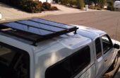 Installation d'un toit bricolage pour panneaux solaires