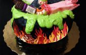 Witches Cauldron Cake !