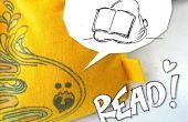 T-Shirt Mini poufs - apprendre à coudre et faire votre propre bibliothèque de lecture souple