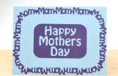Carte de fête de la mère de maman frontière