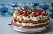 Pistache & baies torte de printemps