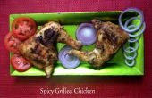 Épicé grillé de cuisses de poulet