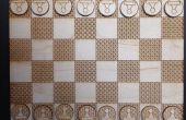 Découpé au laser Chess Board & pièces