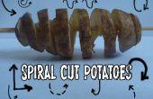 Spirale coupe les pommes de terre