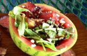 Salade de melon d'eau avec le cerfeuil grillées