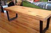 Table basse de quilles récupérées lane - pour un non-ébéniste vivant dans petit appartement