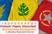 Super-héros congélateur papier peint au pochoir sac à dos