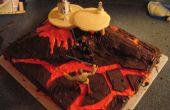 Gâteau Star Wars (Mustafar)