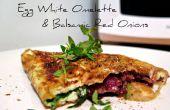Blanc d'oeuf Omelette aux oignons rouges balsamique