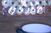 Four solaire plat & portable (avec CD) - Horno solaire plano y transportable (usando CDs como espejos)