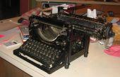 Comment utiliser une machine à écrire
