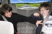 Excursions familiales : Construire un mur de ruban adhésif pour éviter l'ennui de banquette arrière