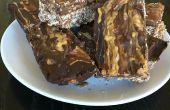 Barres protéinées de chocolat d'arachide beurre