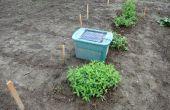 Cerf de dissuasion / répulsif pour votre jardin en utilisant un solar powered lecteur mp3 pour jouer une personne qui parle
