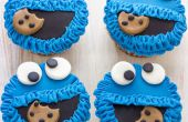 Cookie Monster Fondant Cupcake Toppers