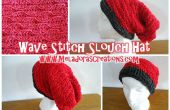 Vague de Stitch Slouch Hat – Crochet patron gratuit