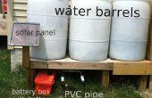 Une pompe solaire alimentée pour barils d'eau