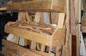 Rack de stockage du bois mobile flexible à l'aide de palettes