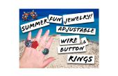 Fun Summer bague fil bouton