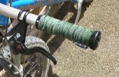 Poignées de vélo de montagne de cuir