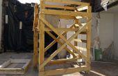 Tour d'échafaudage en bois