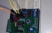 À l'aide du bouclier de programmation ATTINY 8Pin avec une horloge externe