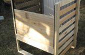 Bac de compostage pour le cadre bois
