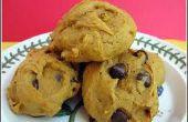 Biscuits aux brisures de chocolat citrouille facile effrayant