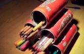 Pyramide de porte-crayons Horizontal (en boîtes de conserve)