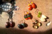 Boucles d'oreilles de pistache Shell Eco