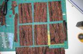 Cartes postales les fibres - écorce d'arbre