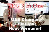 TEG bricolage 3 en un : chargeur USB, LED lumière et chaleur-épandeur !