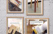 Recycler les jambe de chaise tabouret échoue